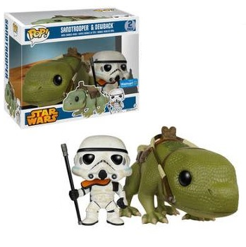 Walmart Exclusive Star Wars Sandtrooper Pop! Vinyl Figure & Dewback Pop! Rides Box Set by Funko