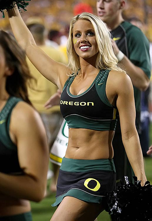 Ducks cheerleader porn oregon
