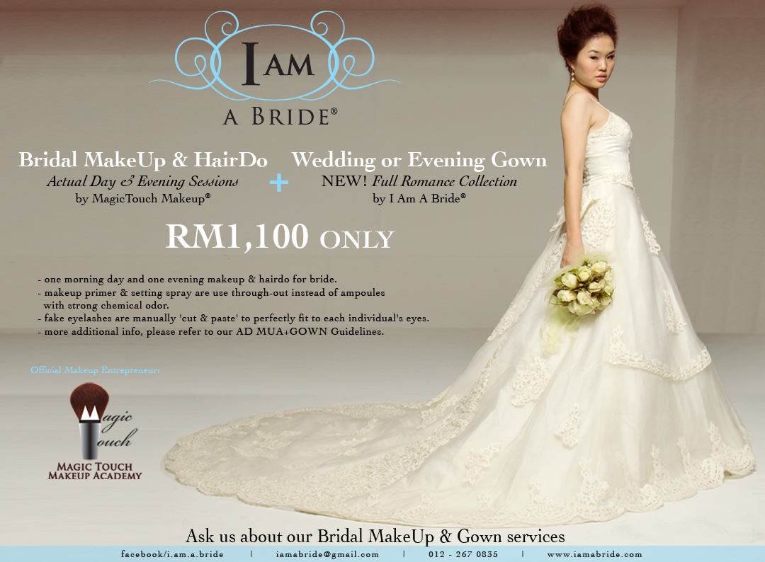 Wedding Actual Day Bridal Makeup Promotion | I am a Bride Gown Boutiques