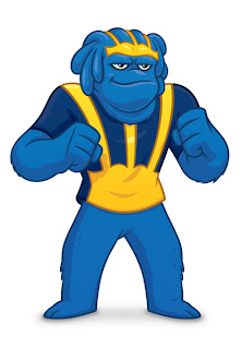 Michigan Mascot Big Blue by Danny Moore Illustrator Illustrations