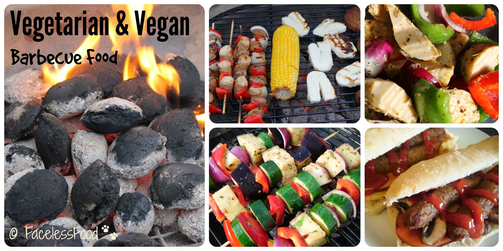 Vegetarian and vegan food cooking on a barbecue