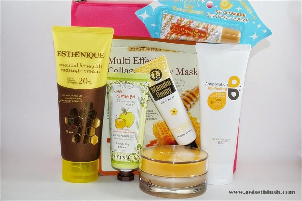 Memebox #53 Superbox My Honey Box - Contents
