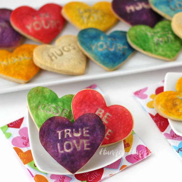Conversation Heart Pastries | HungryHappenings.com