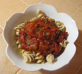 Bowl of Rigatoni with Tomato Sauce