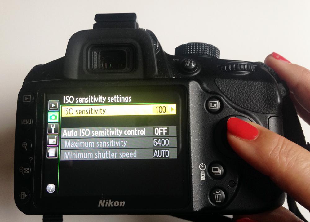 camera ISO setting