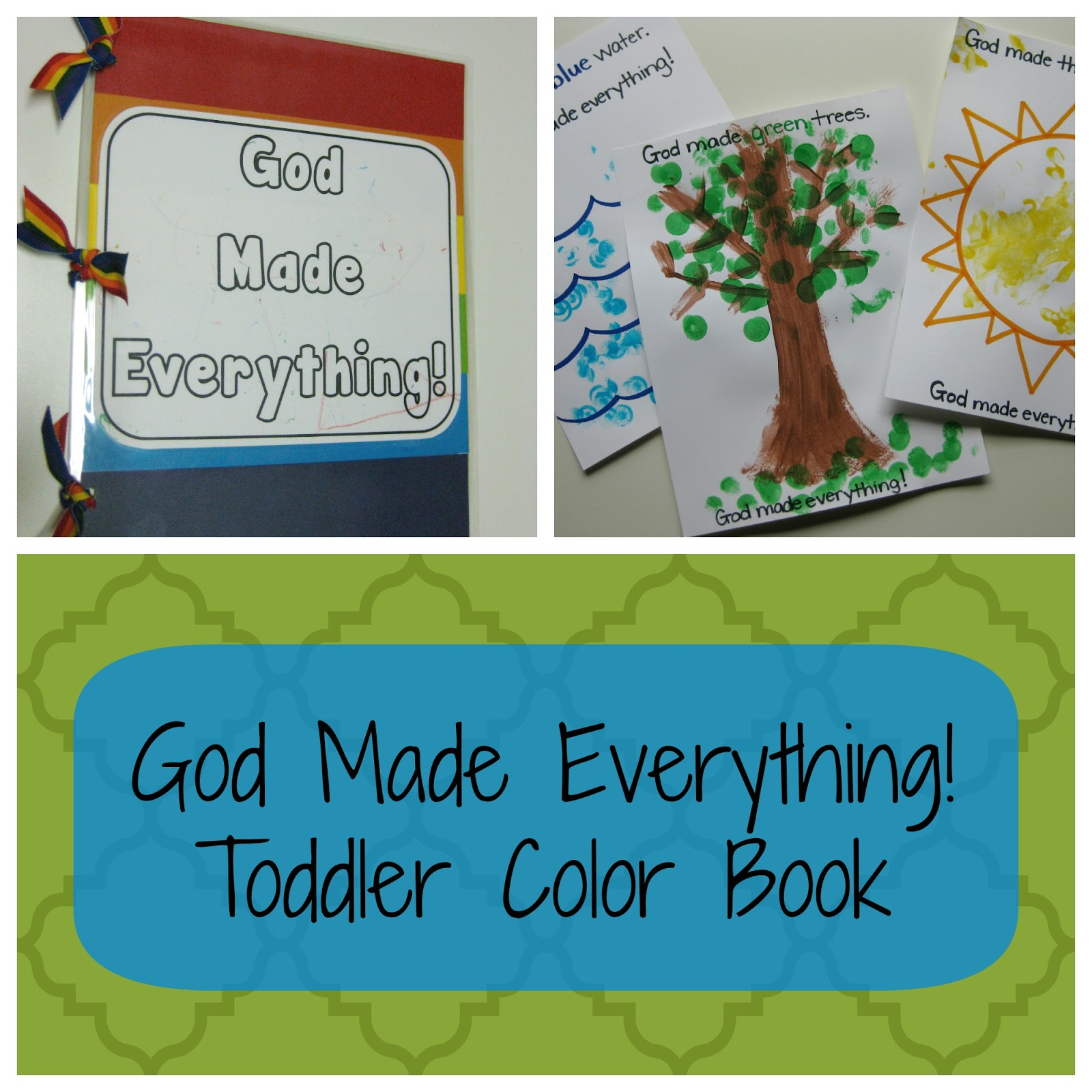 Teacher Turned Momma: God Made Everything! Color Book