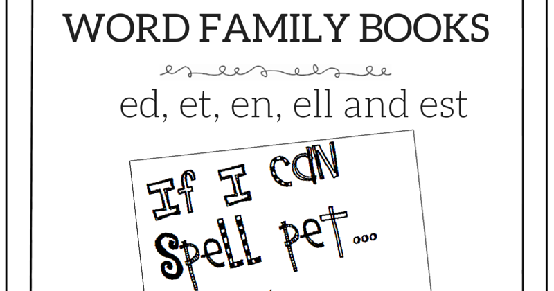 joyful learning in kc  word family books