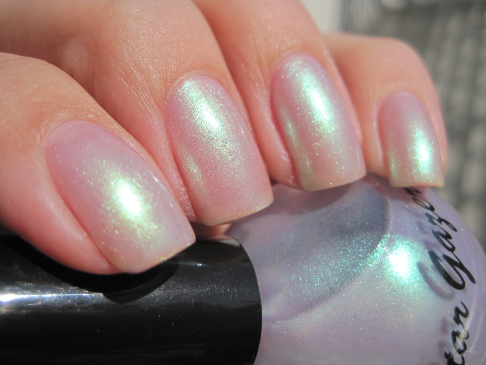 Stargazer Opal 245 Is A Pale Lilac With Green Microshimmer