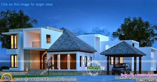 Modern Western Style House Keralahousedesigns
