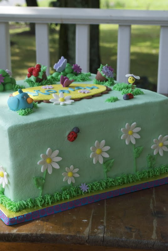 Garden Party Birthday Cake