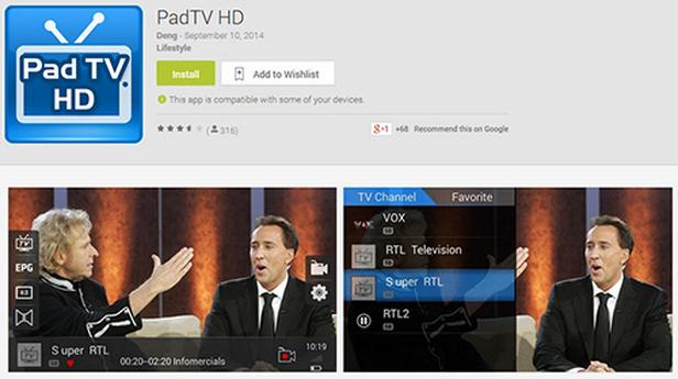 MyGica Pad TV Tuner Untuk Android