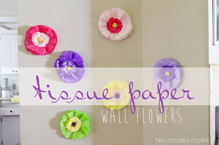 Two shades of pink diy tissue paper wall flowers diy tissue paper wall flowers mightylinksfo