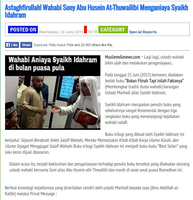 Ismail Amin Membongkar Kedustaan Abu Husein At Thuwailibi Atas Kasus Penganiayaan Mantan Syiah
