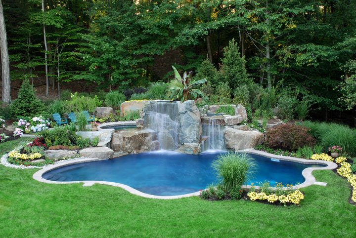 Backyard Landscaping Ideas Around Pools : Reubens lawn care landscaping around the pool