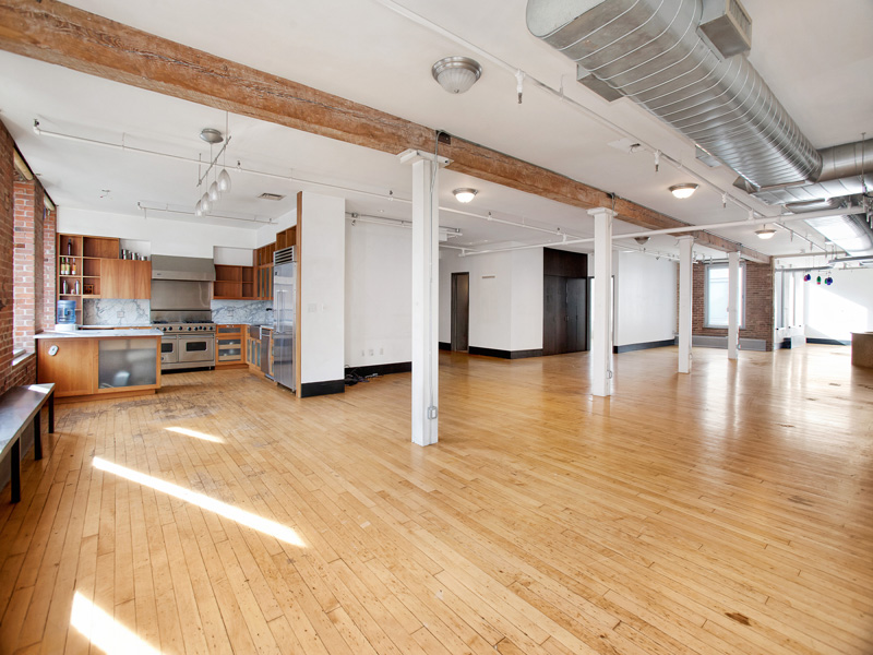 white apartment loft in soho new york