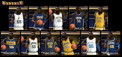 NBA 2K14 Indiana Pacers Jersey Mods
