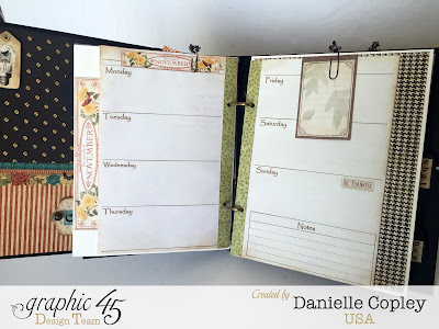 Planner love with Graphic 45 mixed media album and Time to Flourish, Steampunk Debutante and Botanicabella
