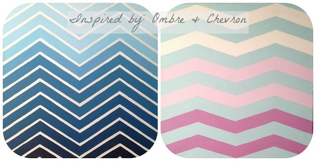 Ombre Chevron, Chevron art, Ombre art, Blue Chevron, Pink Chevron