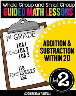 https://www.teacherspayteachers.com/Product/Guided-Math-Lessons-First-Grade-Unit-2-1973101