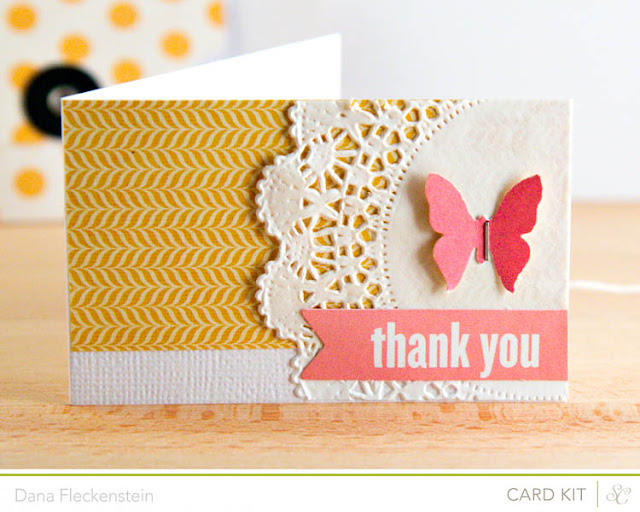 Girly Thank You Enclosure Card by @pixnglue using Studio Calico's Spencer's Kit