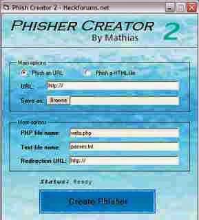 Downlload Phisher Creator Pembangun Halaman Phishing