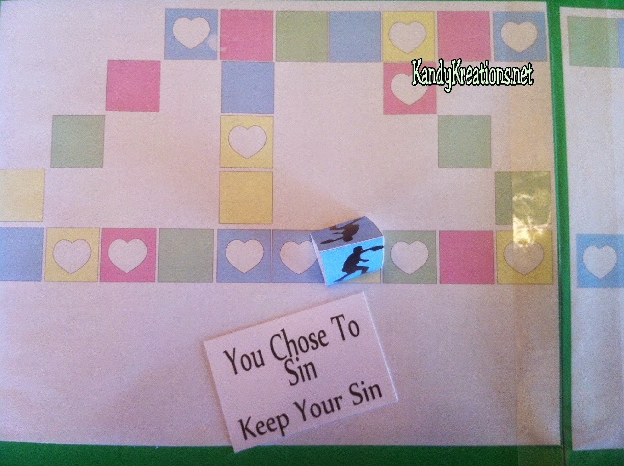 Sin in the Plan of Salvation Board Game. Free Printable board game and ideas to teach for FHE or YM/YW activity.