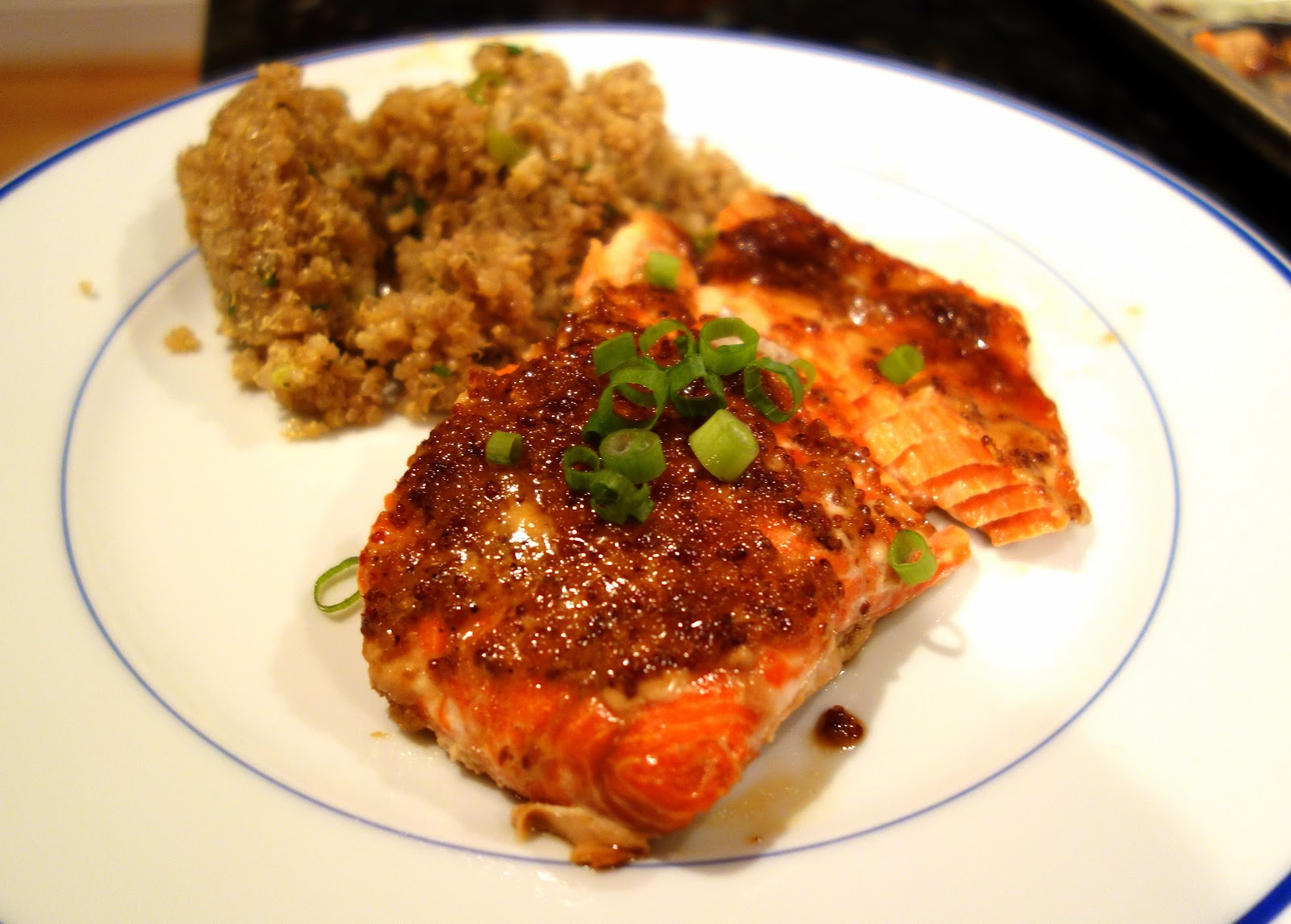 Fresh Local and Best: Salmon with Brown Sugar and Mustard Glaze