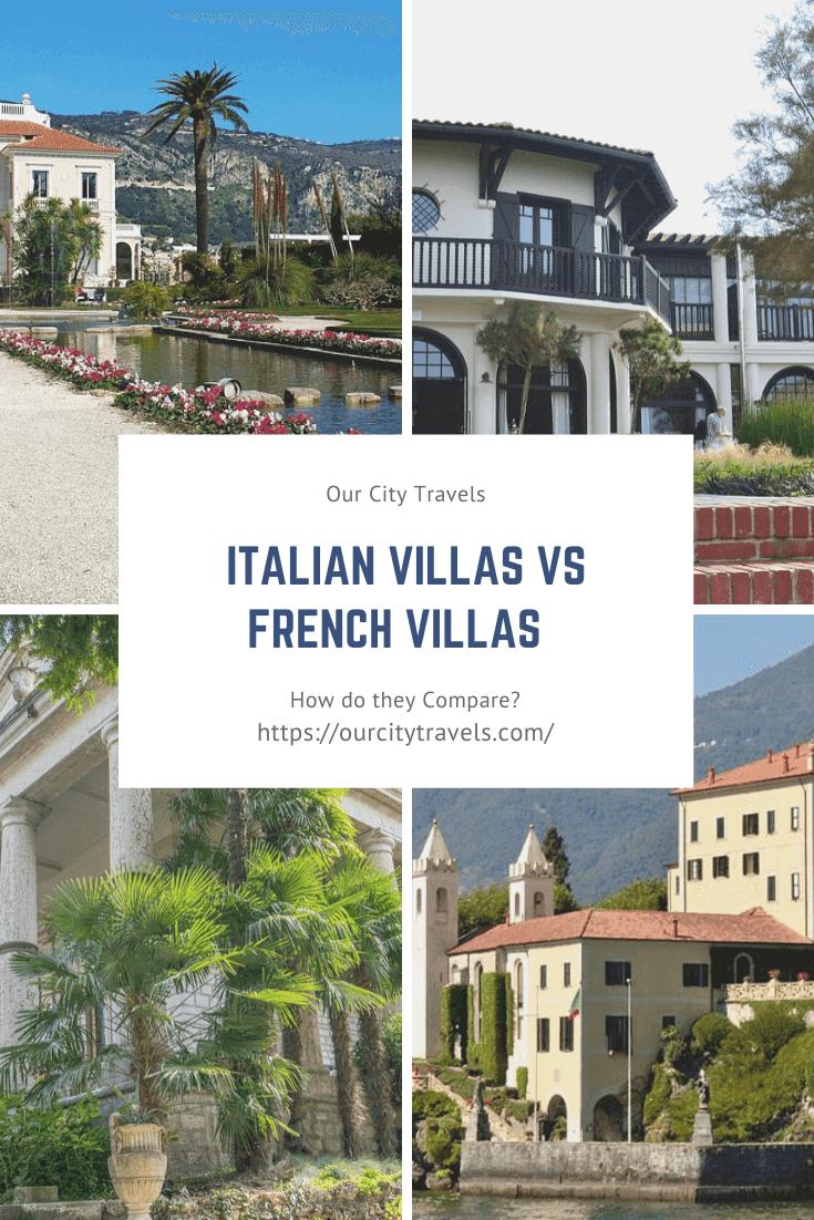 Italian Villas vs French Villas – How do they Compare?