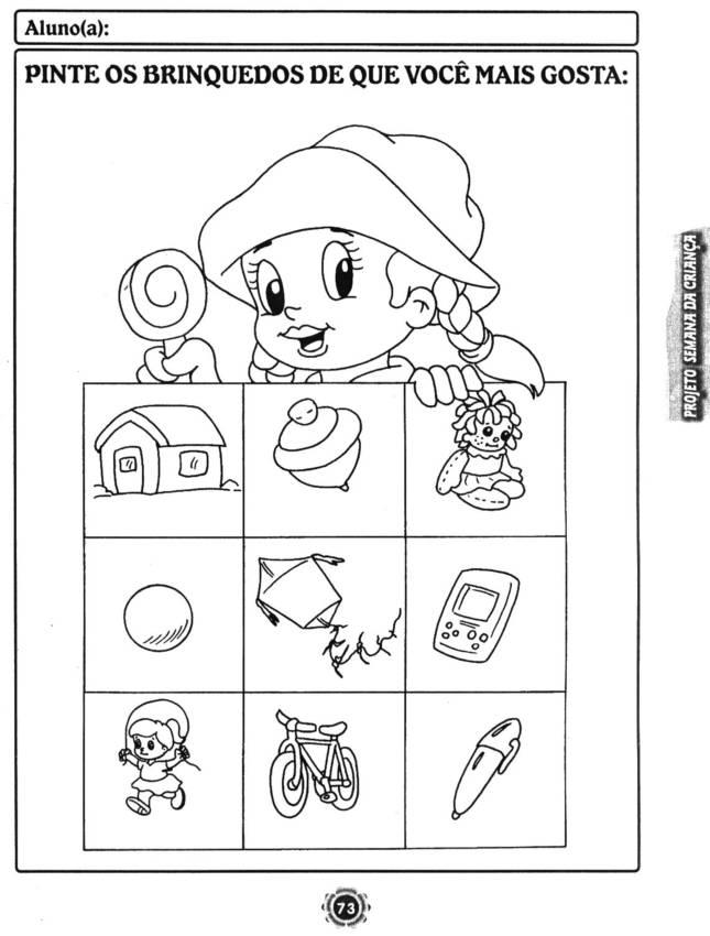 Fabuloso Atividades para Imprimir semana da criança - Atividades Pedagógicas BJ04