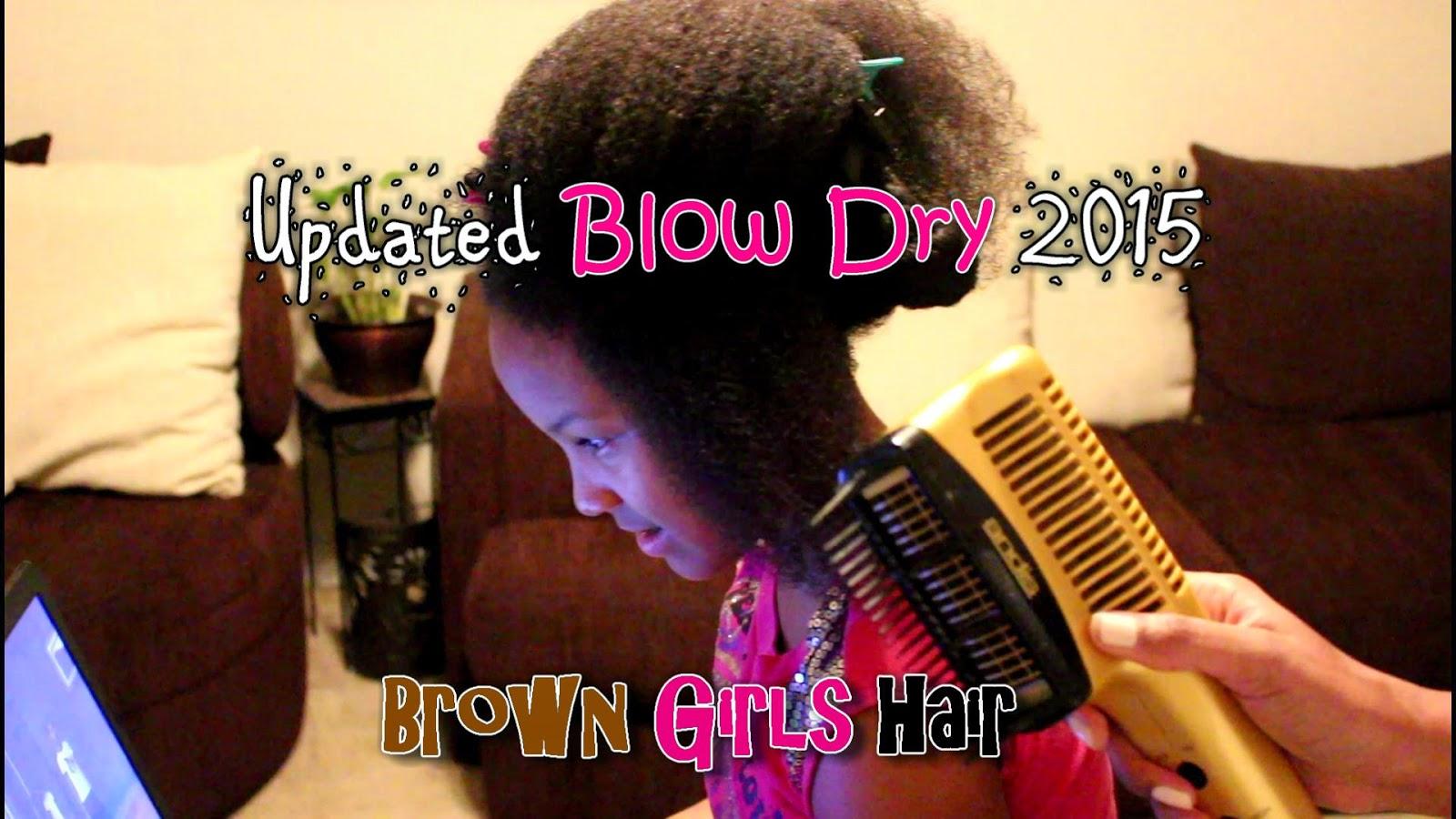 Blow Dry, Natural, Black, Girls, African American, Hair, braids