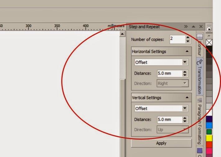 Cara Duplikasi objek menggunakan Step and Repeat