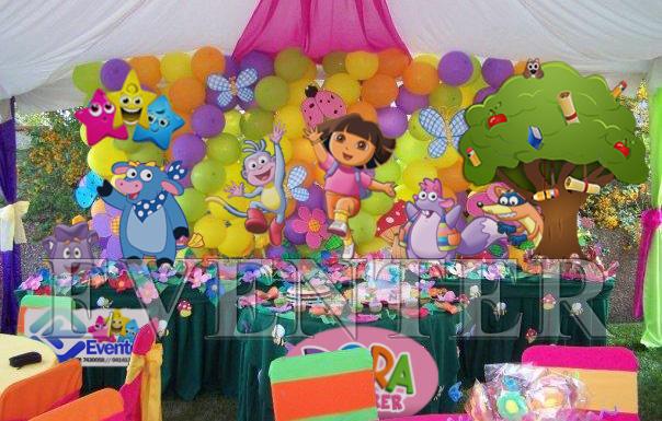 Decoración de dora la exploradora para fiestas infantiles - Imagui