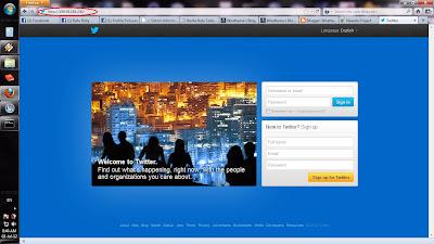 Lalu ketikkan alamat IP hasil ping pada Browser anda