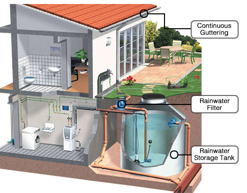 Building the green infrastructure stop global warming for How to build a rainwater collection system