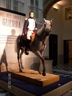 Representación del rey José I a caballo durante su campaña por Andalucía