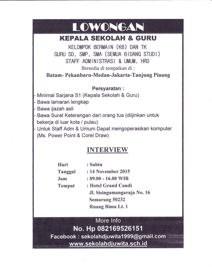 Lowongan Kerja Ijazah Sma Semarang