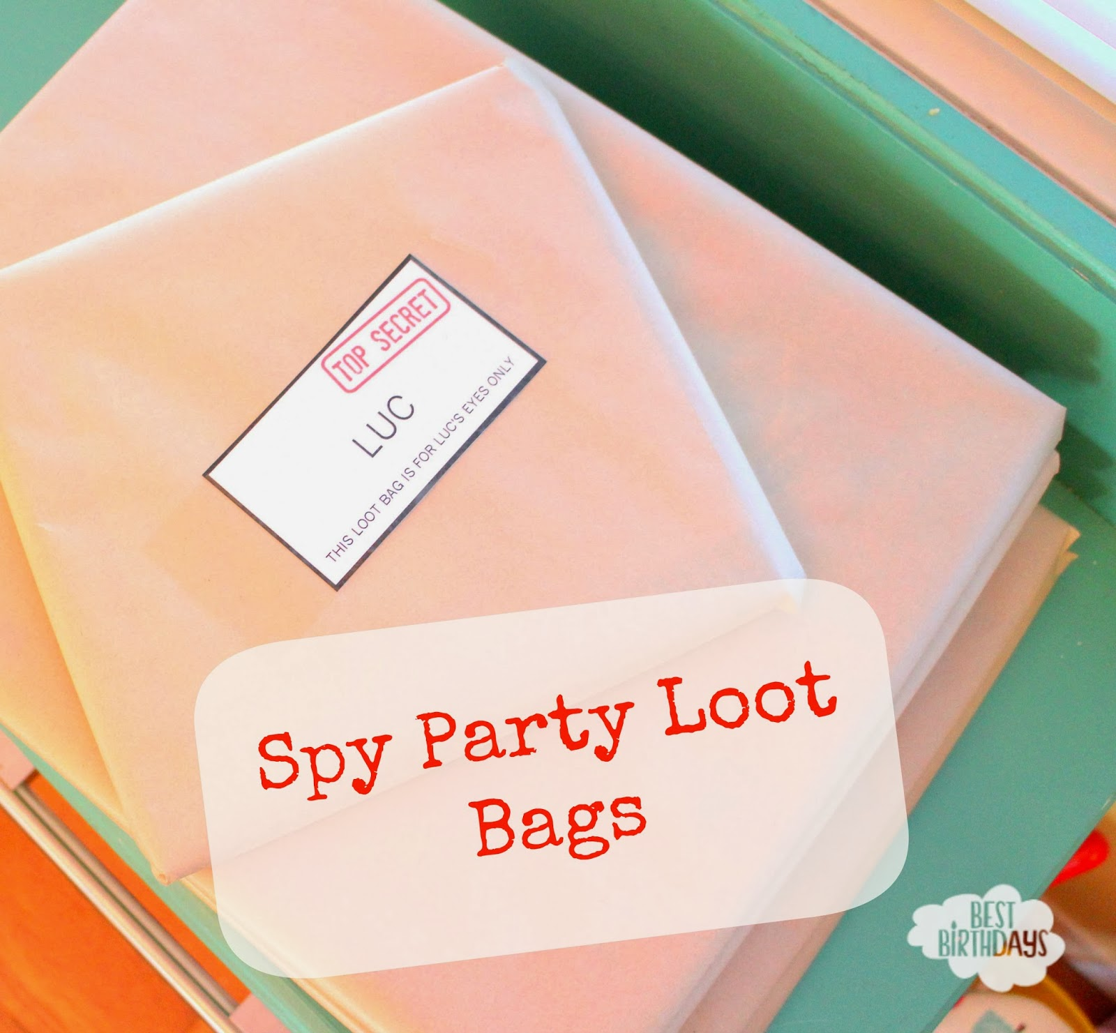 Best Birthdays: Spy Party Loot Bags