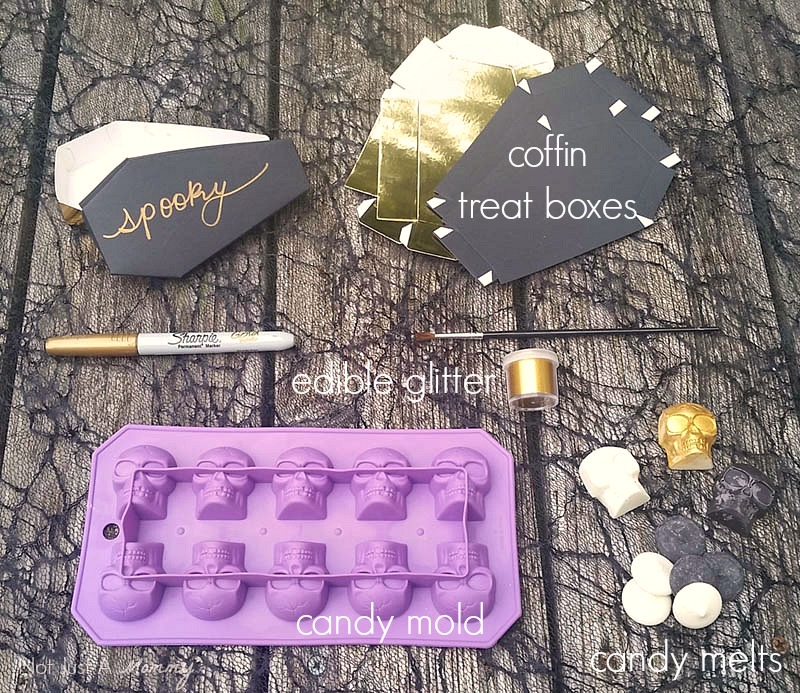 Black + White Halloween Party Blog Hop - Skull Candy Party supplies