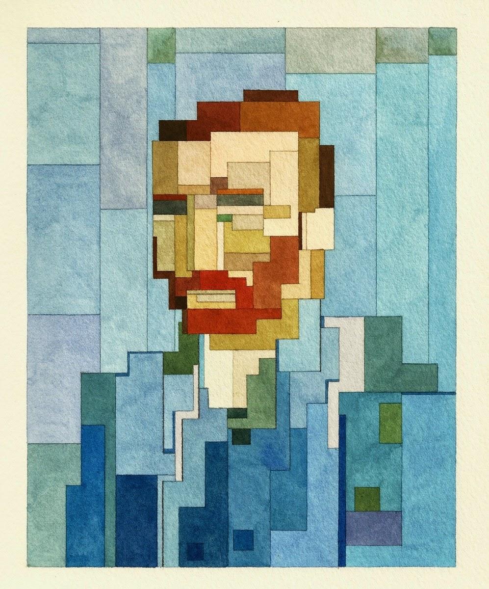 Adam Lister, acuarelas 8 bits, Autoretrato Van Gogh