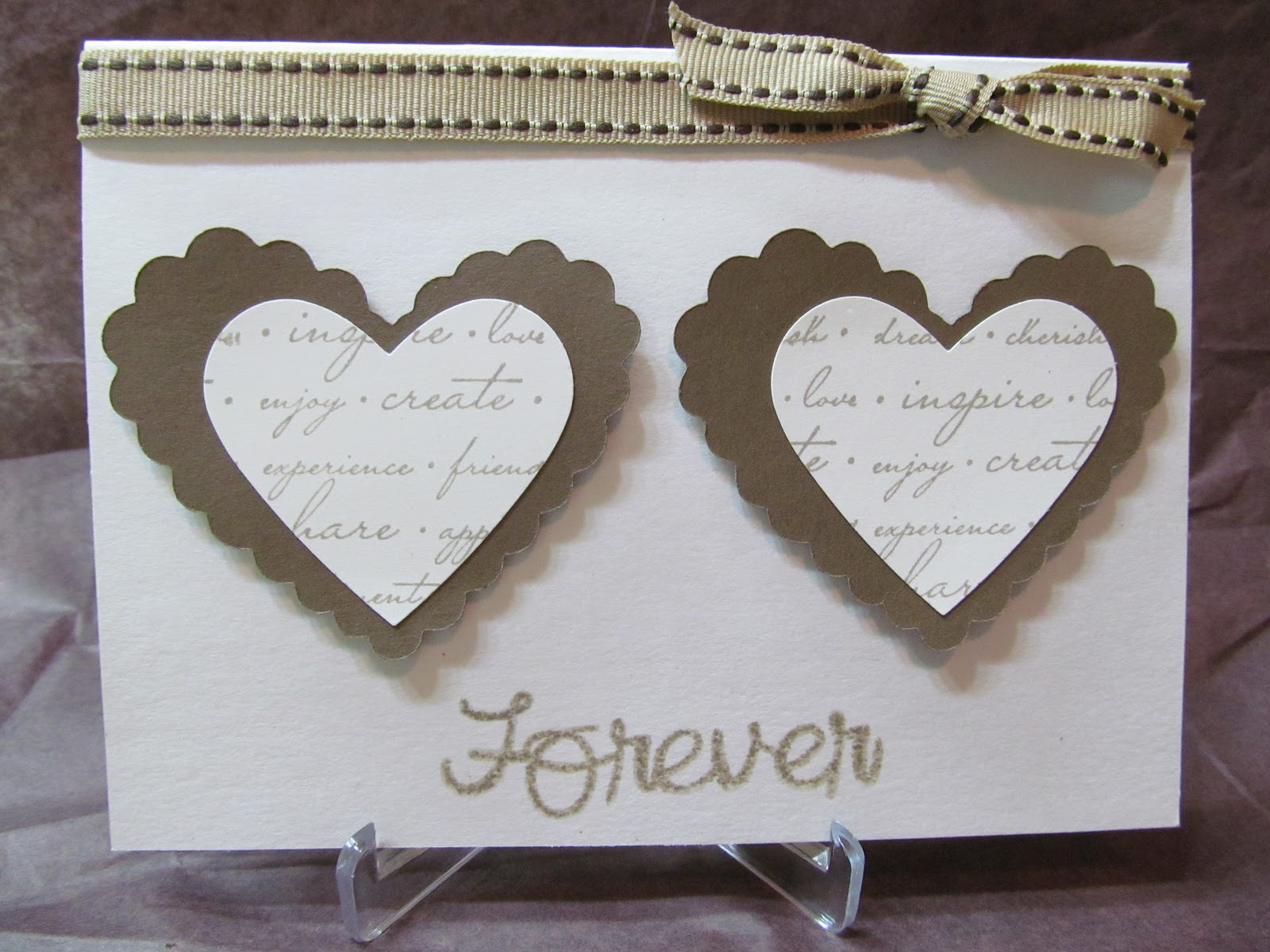 Savvy Handmade Cards Two Hearts Forever Card