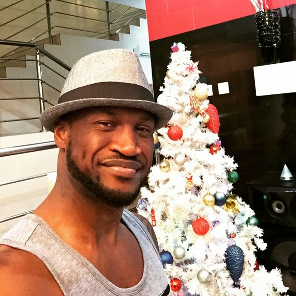 peter okoye christmas tree