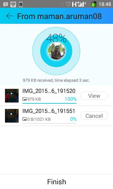 Cara menerima file dengan aplikasi shareit