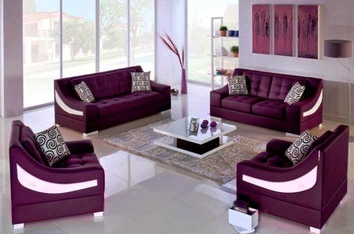 Arredim Shtëpie: Lila Wohnzimmer Designs