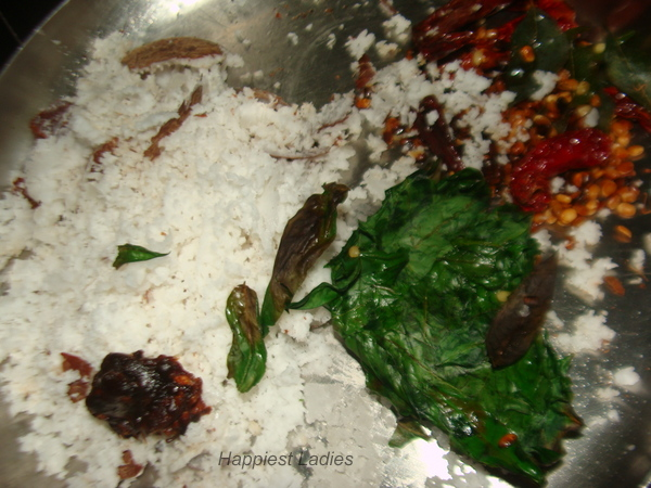 Ingredients for Vitamin leaves chutney+chutney recipes