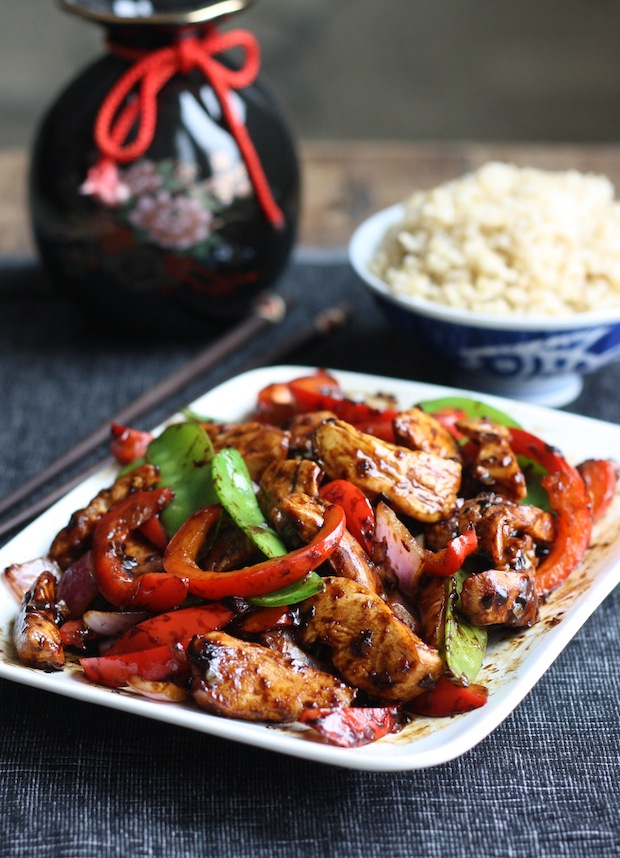 Stir-Fried Chicken with Chinese Garlic Sauce by SeasonWithSpice.com