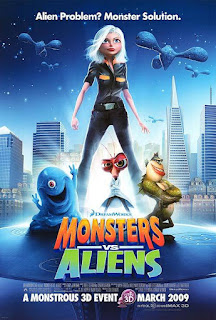 Monsters vs. Aliens (2009) Dual Audio Hindi 480p BluRay [300MB]