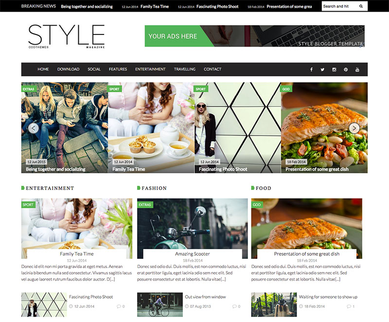style magazine blogger template blogger templates gallery. Black Bedroom Furniture Sets. Home Design Ideas