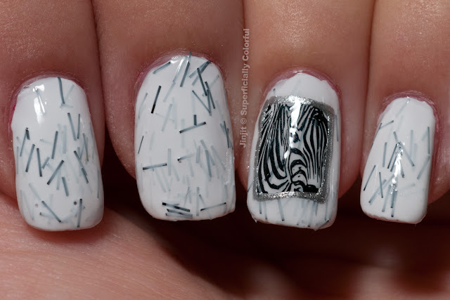 The Nail Junkie Animal Collection Zebra
