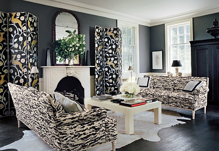 room with Schumacher fabrics