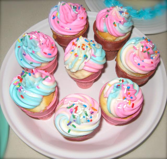 RASPBERRY & ORANGE: ICE CREAM CONE CUPCAKES